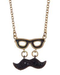 Kate Spade - Multicolor Dress The Part Mustache Pendant Necklace - Lyst