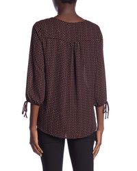 Pleione - Red 3/4 Length Tie Sleeve Blouse - Lyst