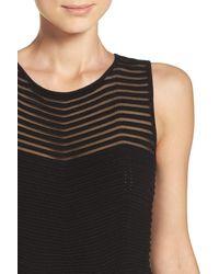 Eliza J - Black Chevron Fit & Flare Dress - Lyst