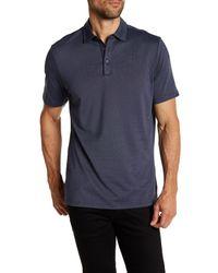 Robert Barakett | Blue Zebulon Micro Polka Dot Short Sleeve Polo for Men | Lyst