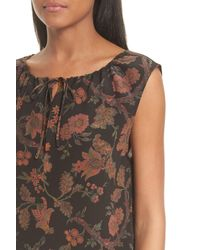 Theory - Black Alamay Morris Crepe De Chine Silk Top - Lyst