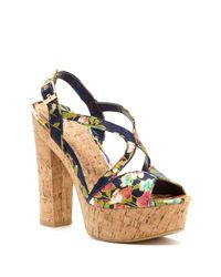 Chinese Laundry - Blue Party Time High Heel Sandal - Lyst