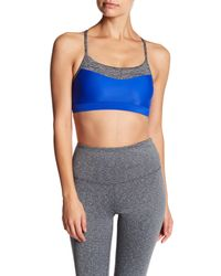 Body Glove - Blue Lotus Caged Back Sports Bra - Lyst