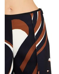 Lafayette 148 New York - Black Thompkins Abstract Culotte Trousers - Lyst