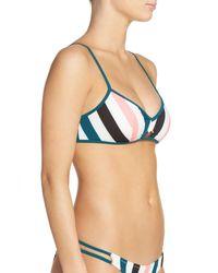 Solid & Striped - Blue Taylor Keyhole Bikini Top - Lyst