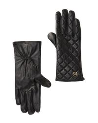 Michael Kors - Black Quilted Leather Gloves - Lyst