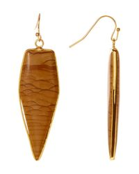 Panacea | Brown Jasper Arrow Drop Earrings | Lyst