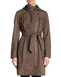 Vince Camuto | Multicolor Belted Asymmetrical Zip Softshell Jacket | Lyst
