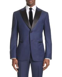 Z Zegna - Blue Slim Fit Wool Tuxedo for Men - Lyst