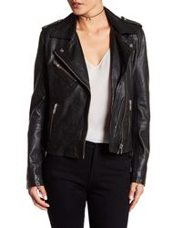 Doma Leather | Black Darken Genuine Leather Moto Jacket | Lyst
