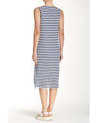 Splendid - White 'monterosso' Stripe Mix Midi Dress - Lyst
