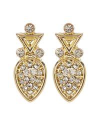 House of Harlow 1960 | Metallic Embellished Teardrop Studded Earrings | Lyst