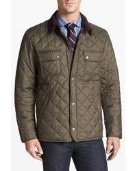 Barbour - Green 'tinford' Regular Fit Quilted Jacket for Men - Lyst