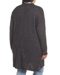 Caslon - Gray (r) Drop Shoulder Open Cardigan - Lyst