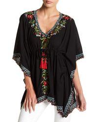 Tiare Hawaii - Black Lanzarote Embroidered Tunic - Lyst