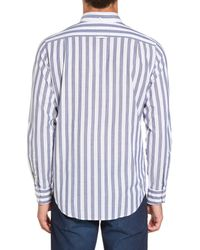 Gant - Blue Slim Fit Tech Varsity Stripe Sport Shirt for Men - Lyst