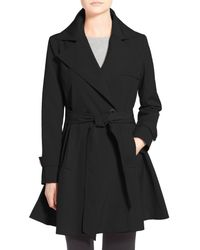 Trina Turk - Black 'phoebe' Double Breasted Trench Coat - Lyst