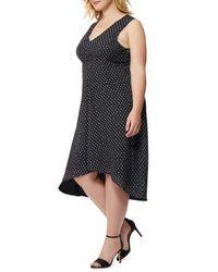 REBEL WILSON X ANGELS - Black Print High/low Dress (plus Size) - Lyst