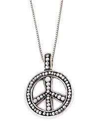 Lori Bonn - Metallic Bb Sweets Sterling Silver Hippie Chick Token Pendant Necklace - Lyst