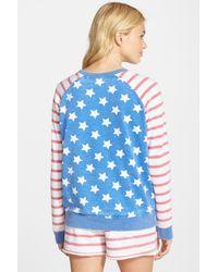 Honeydew Intimates - Blue Burnout Lounge Sweatshirt - Lyst