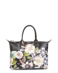 Ted Baker Black Immy Gem Gardens Large Tote Bag