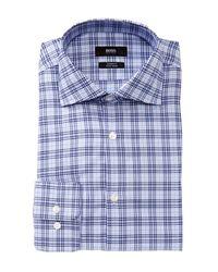 BOSS - Blue Miles Sharp Fit Dress Shirt for Men - Lyst