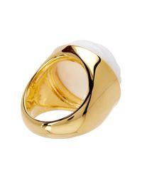 Trina Turk - Metallic Beveled Cabochon Resin Detail Ring - Size 7 - Lyst