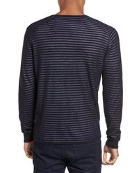 Calibrate - Blue Stripe V-neck Double Layer Sweater for Men - Lyst