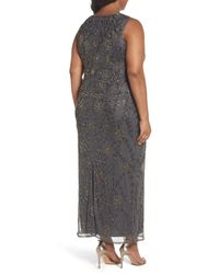Pisarro Nights | Gray Embellished Maxi Dress | Lyst