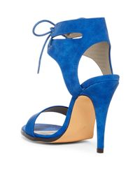 Michael Antonio - Blue Lines Ankle Cuff Stiletto Sandal - Lyst