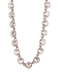 Givenchy - Metallic Crystal Station Necklace - Lyst