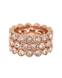 Givenchy - Multicolor Crystal Stack Ring Set - Size 7 - Lyst