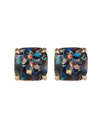 Kate Spade - Multicolor Glitter Square Stud Earrings - Lyst