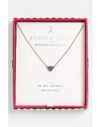 Judith Jack | Metallic Mini Motives Reversible Heart Pendant Necklace | Lyst