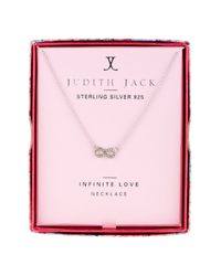 Judith Jack - Pink 10k Gold Plated Sterling Silver Pave Swarovski Embellished Reversible Star Pendant Necklace - Lyst