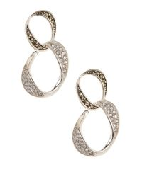 Judith Jack | Metallic Sterling Silver Glitter Links Double Drop Earrings | Lyst