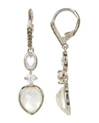 Judith Jack - White Marcasite, Mother Of Pearl, & Cz Detail Drop Earrings - Lyst