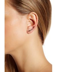 Marchesa - Pink Stone Accented Ear Crawler Earrings - Lyst