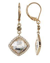 Judith Jack - Metallic Marcasite & Crystal Detail Drop Earrings - Lyst