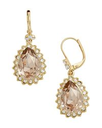 Marchesa - Metallic 'sunrise' Swarovski Crystal Drop Earrings - Lyst