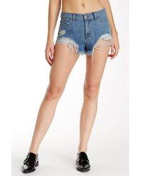Siwy - Blue Lillie Distressed Shorts - Lyst