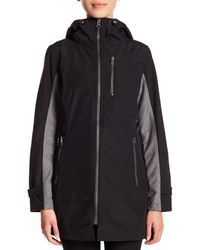 Trina Turk - Black Two-tone Front Zip Jacket - Lyst