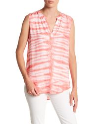 Casual Studio | Pink V-neck Sleeveless Blouse | Lyst