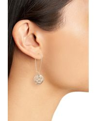 Treasure & Bond - Metallic Organic Disc Threaded Drop Earrings - Lyst