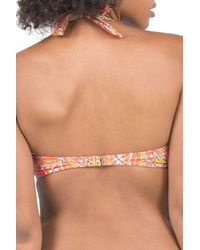 Volcom - Multicolor Just Add Water Bandeau Bikini Top - Lyst