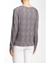 Soft Joie | Gray Annora B Long Sleeve Sweatshirt | Lyst