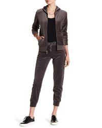 Juicy Couture - Black Signature Velour Zuma Pants - Lyst