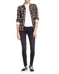 "Levi's - Black The Rocker Skinny Jeans - 32"" Inseam - Lyst"