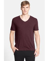 ATM - Purple Slub Jersey V-neck Tee for Men - Lyst