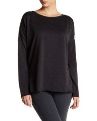 Betsey Johnson - Black Spacedye Split Hem Pullover - Lyst